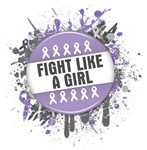 Fight Like a Girl General Cancer Splatter Shirts