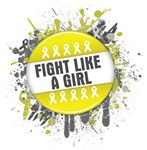 Fight Like a Girl Bladder Cancer Splatter Shirts