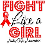 Fight Like a Girl AIDS Awareness Shirts