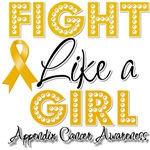 Appendix Cancer Fight Like a Girl Shirts