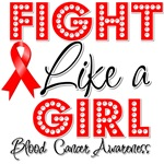 Fight Like a Girl Blood Cancer Shirts
