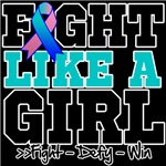 Thyroid Cancer Sporty Fight Like a Girl Shirts