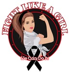 Melanoma Fight Like A Girl Rosie Shirts