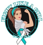 Cervical Cancer Fight Like A Girl Rosie Shirts