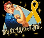 Rosie Riveter Fight Like a Girl Appendix Cancer