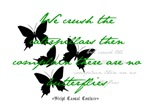 Butterflies Silhouette Quote