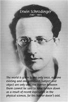 Erwin Schrodinger: Unity of Reality