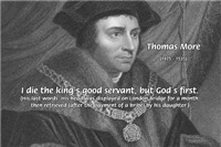 Saint Thomas More: Utopia, God servant