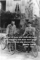 Nobel Philosophy: Good from Discovery Marie Curie