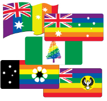 Australia Gay Pride Flags