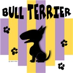 Bull Terrier Yellow/Purple Stripe