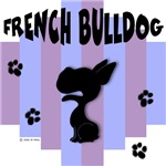 French Bulldog Blue/Purple Stripe