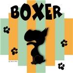 Boxer Green/Orange Stripe