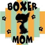 Boxer Mom Green/Orange Stripe
