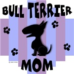 Bull Terrier Mom - Blue/Purple Stripe