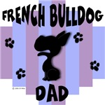 French Bulldog Dad Blue/Purple Stripe