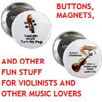 Violin Buttons, Magnets, Stickers