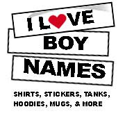 I Love Boy Names
