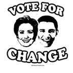 Vote for Change: Clinton / Obama