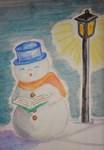 Caroling Snowman