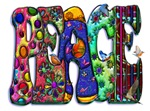Peace Word Art Birds and Butterflies