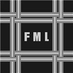 Modern Gray Plaid Monogram