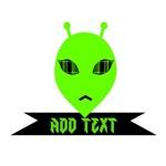 Plaid Eyed Green Alien Head