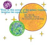 Spock Math Quote