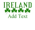 Ireland Shamrocks Personalize