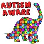 Autism Aware with Dinosaur