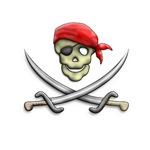 Skull and Crossed Swords Pirate Design