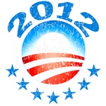 OBAMA 2012 Distressed/Faded Look Design