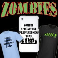 ZOMBIES! Zombie Humor, Zombie Tshirts