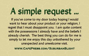 No Soliciting *Simple Request*