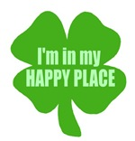 I'm In My Happy Place Drunk Irish Humor T-shirts