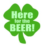 Here For The Beer Funny Irish Tshirts Gifts