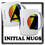 Initial Pride Mugs, gay pride, rainbow