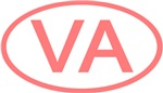 VA Oval - Virginia (Pink)