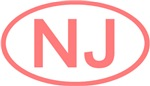 NJ Oval - New Jersey (Pink)