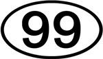 Number Ovals - 50 to 99 (Black)