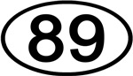Number 89 Oval (Black)