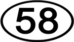 Number 58 Oval (Black)