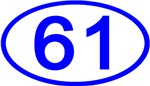 Number 61 Oval (Blue)