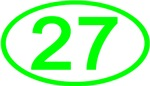 Number 27 Oval (Green)