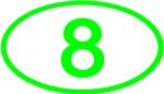 Number 8 Oval (Green)