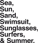 Sea sun sand surfers summer