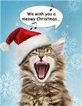 Singing Cat Christmas Cards