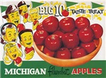 Vintage Michigan Apples Big 10