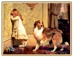GIRL WITH PET SHELTIE: SPECIAL PLEADER