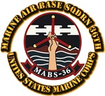 USMC - Marine Air Base Squadron - 36th with Text